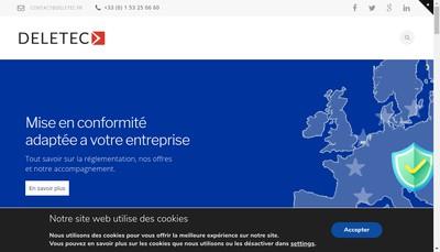Site internet de Deletec