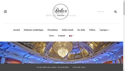 Site internet de Delice Show Patinage Evenementiel