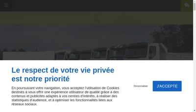 Site internet de Transports Delmas