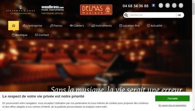 Site internet de Delmas Musique