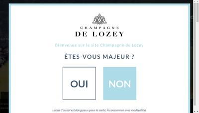 Site internet de Champagne Philippe de Lozey