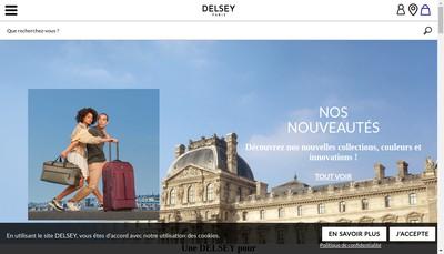 Site internet de Delsey