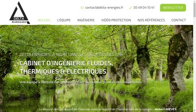 Site internet de Delta Energies