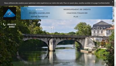 Site internet de Delta Finance Concept