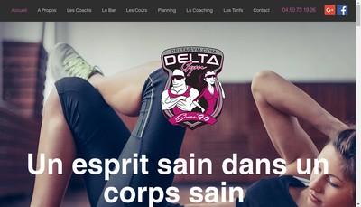 Site internet de Delta Gym