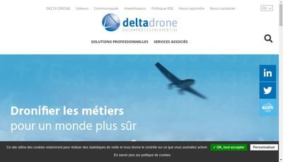 Site internet de Delta Drone Engineering