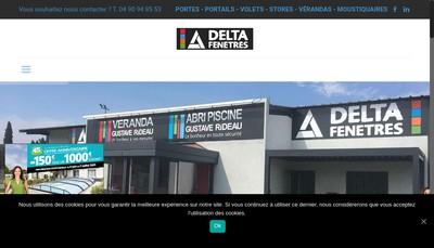 Site internet de Delta Fenetres