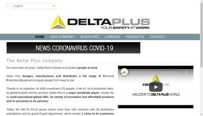 Site internet de Delta Plus Group