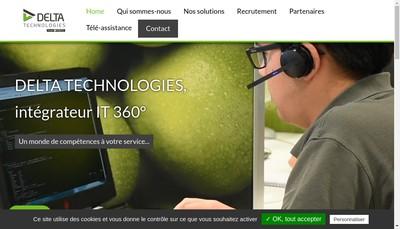 Site internet de Delta Technologies