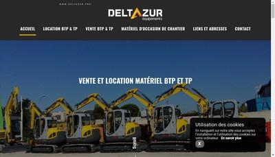 Site internet de Deltazur Equipements