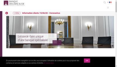 Site internet de Banque Delubac et Cie