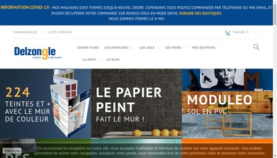 Site internet de Delzongle Midi-Pyrenees