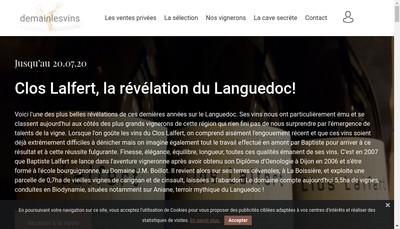 Site internet de Demain les Vins - la Cave de Saint Etienne