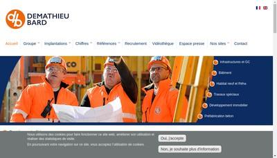 Site internet de Demathieu Bard Construction