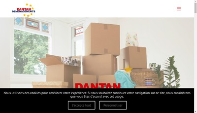 Site internet de Dantan Demenagements