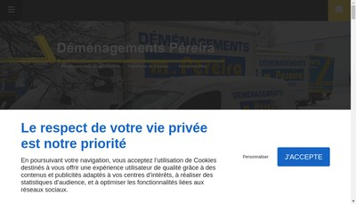 Site internet de Demenagement Pereira