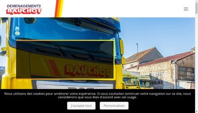 Site internet de Transports Demenagements Bauchot