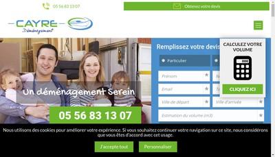 Site internet de Demenagements Cayre