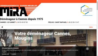 Site internet de Demenagements Mira