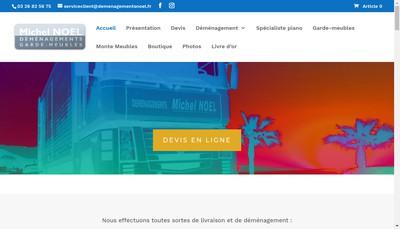 Site internet de Demenagements Noel