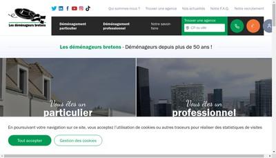 Site internet de Demenageurs Bretons