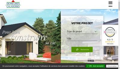 Site internet de Demeures Caladoises Participations