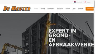 Site internet de Grond- en Afbraakwerken G en a de Meuter