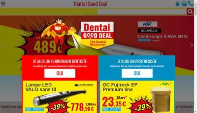 Site internet de Dental Good Deal