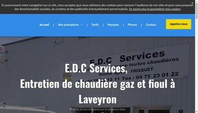 Site internet de EDC Services