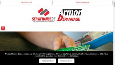 Site internet de Servisat - Servipieces