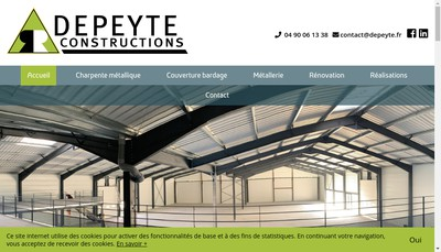 Site internet de Depeyte Constructions