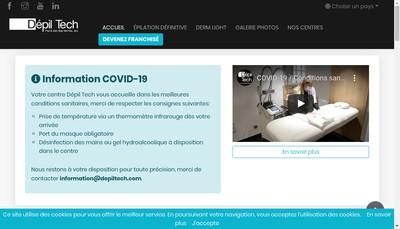 Site internet de Depil Tech