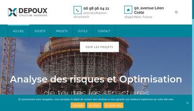 Site internet de Depoux Structure Ingenierie - Dsi