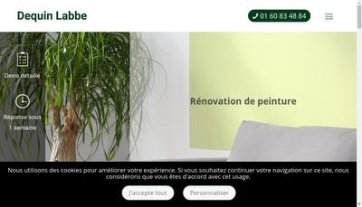 Site internet de Entr Gen de Peinture Dequin - Labbe