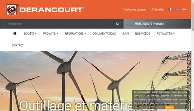Site internet de Derancourt Ingenierie