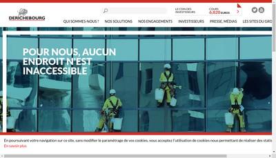 Site internet de Derichebourg Environnement