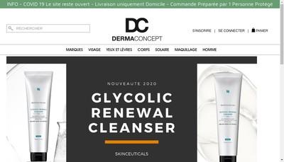 Site internet de Derma Concept