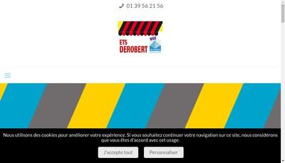 Site internet de SARL Derobert