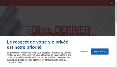Site internet de SARL Gilles Derrier