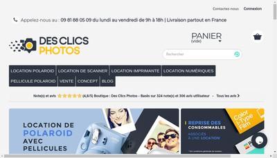 Site internet de Des Clics Photos