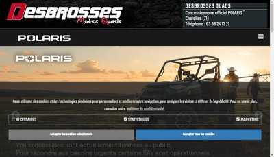 Site internet de Desbrosses Motos