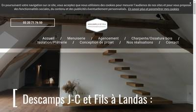 Site internet de Descamps Jc et Fils