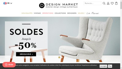 Site internet de Design Market