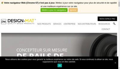 Site internet de Materiaux Design