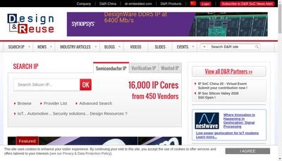Site internet de Design And Reuse Eetimes Network