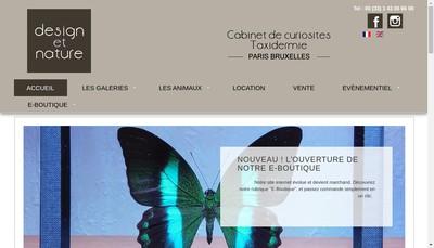 Site internet de Design et Nature