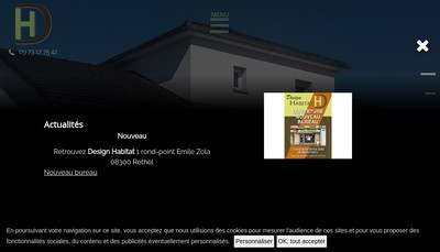 Site internet de Design Habitat