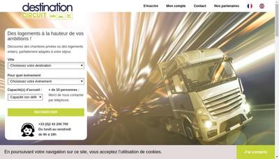 Site internet de Destination Circuit