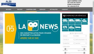 Site internet de Monteils Camping-Cars