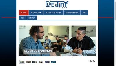 Site internet de Destiny Films